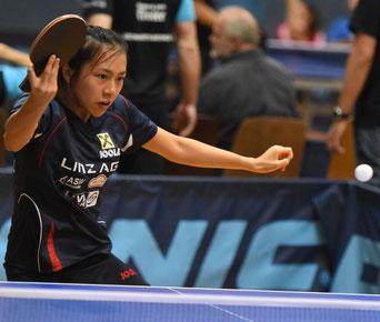 Tin Tin Ho Tischtennisspielerin  A-Team LINZ AG Froschberg