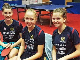 Foto Froschberg vl Karoline Mischek, Ines Diendorfer, Alicia Cote