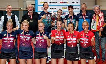 Foto Plohe - LINZ AG Froschberg`s Damen 2019/2020 wurden mit dem Einser-Team österreichischer Cupsieger, LZ Linz Froschberg Zweiter und das zweier Team der Linzer belegte den dritten Rang.