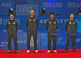 Foto PLOHE - vl Samuel Kaluzny, Thomas Grininger, Zhenlong Liu, Jan Nemeth