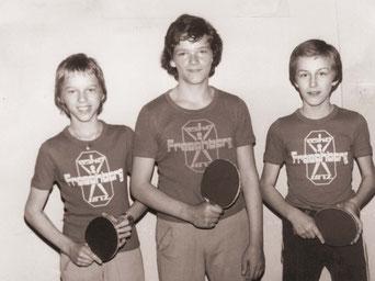 1. erfolgreiches Froschberg Jugend Team -Gerhard Traunfellner, Peter Kranzmayr, Josef Körner