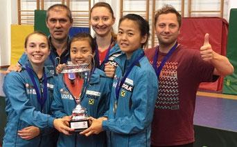Dieses Team holte 2018 den 12. SL Titel nach Linz -Bergström, Ho, Polcanova, Zhang, Haczi, R. Renner