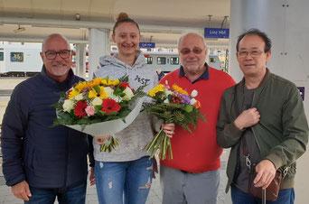 Foto LINZ AG Froschberg - vl Stefan Giegler, Sofia Polcanova, Günther Renner, Liu Yan Jun