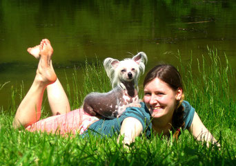 Sarah Lehner, BSc mit Taluna (Chinesischer Schopfhund)