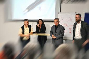 vlnr.: Mag. Gergori, Mag. Wiesler-Hofer, Reinhard Huber, Jürgen Sampl