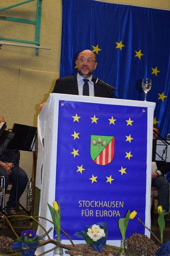MdB Martin Schulz während seiner Europa-Festrede in Stockhausen (© Stockhausen für Europa)