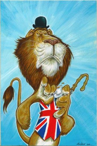 Allégorie Grande Bretagne lion
