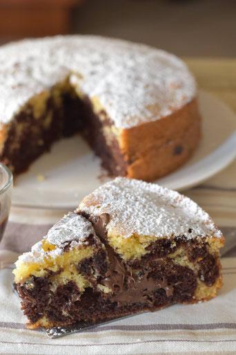 torta variegata nutella e caffe
