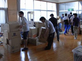鴨川避難所(福島)へ夏服を届けました