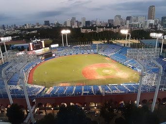 Jingu Stadium night game