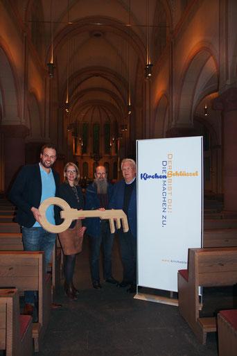 Pfarrgemeinderatsvorstand - v.l.: Daniel Klaas, Nele Harbeke, Albert Lange & Thomas Antkowiak