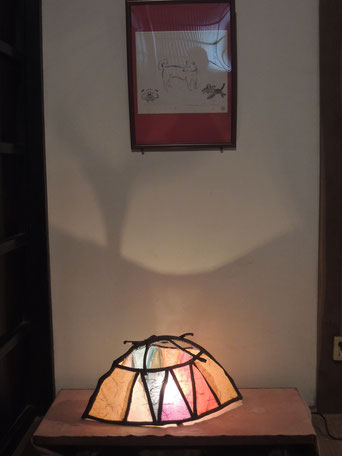 千屋アウトドアハウス囲炉裏の間の一角で灯してみました