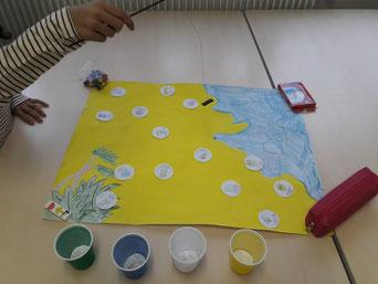 Projet environnement nature table messager du tri recyclage poubelle enfants centre social et interculturel alco sortie exterieur déchets jeux