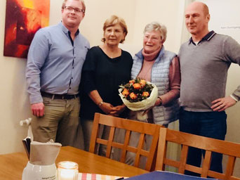 v.l.n.r. Matthias Thomsen, Petra Winter, Sonja Stöcken, Michael Wolhardt
