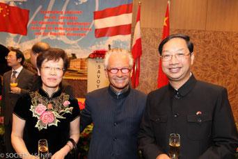 Botschafter Shi Mingde mit Gattin