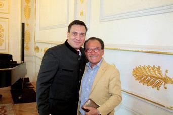 Prof. Dr. Georg Zanger gemeinsam mit Erwin Schrott