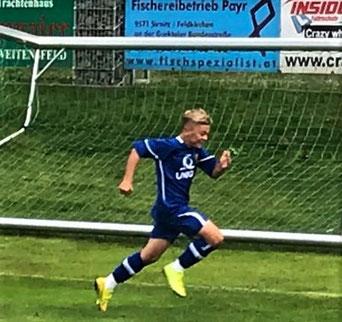 Schoss gestern beide Tore gg. SGA Sirnitz – Jonas Reithofer