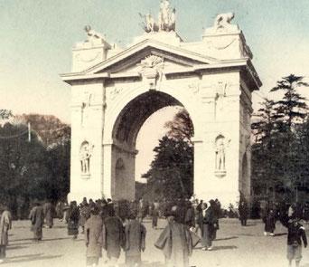 日露戦争の上野の凱旋門