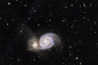 Whirlpool Galaxie - mit Störlicht. Mit Kopierstempel von PS irgendwie schlampig korrigiert... :-)