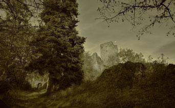 Die alte Oberburg von Mandscheid