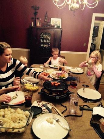 Raclette mit Familie & Josi