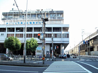 Arbeiter-Zentrum beim Bahnhof Shin- Imamiya in Kamagasaki