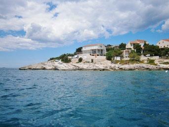 Апартамент в Севиде, первый ряд. Тихий отдых в Хорватии