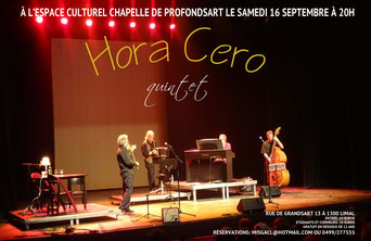 Hora Cero : le 16/9/17 à la chapelle de Profondsart