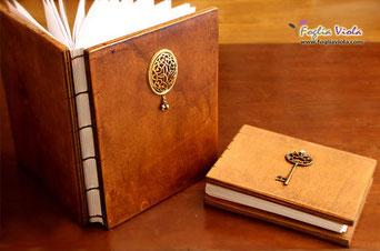 diario con copertina in legno luxury