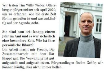 Willy Weber, Bürgermeister Ottersberg