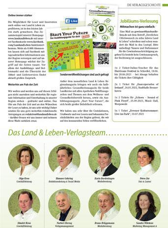 Kroo, Gehring, Bardenhagen, Zey, Herzog, Brüggemann, Wilckens, ....  und diverse freie Redakteure, Haustechnik, Druckerei, SEO by Uweunterwegs28, ...