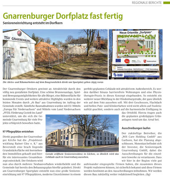 Dorferneuerung und Seniorenwohnanalage / Pflegeheime Gnarrenburg