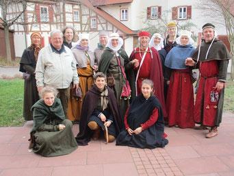 Die Arenbacher und unser ortskundiger Stadtführer, der uns sehr viel Interessantes über den Ort Merklingen und die Kirchenburg erzählen konnte.