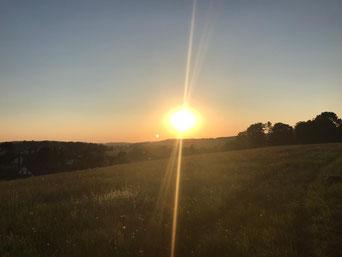 Sonnenuntergang Schweden Ebene