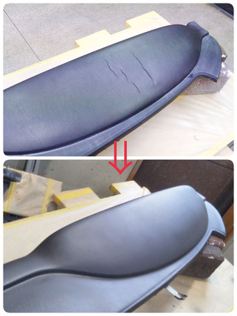 豊橋のダッシュボード傷修理、補修、リペア