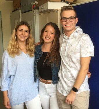 Ajla Muic, Amelie Weidler und Vincent Heinz aus der MSS12 bilden das neue Schülersprecherteam.