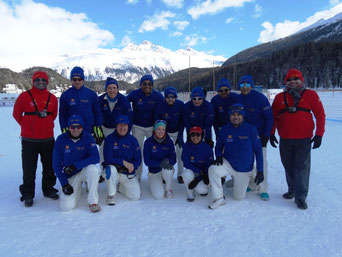 St Moritz CC at Cricket On Ice 2018