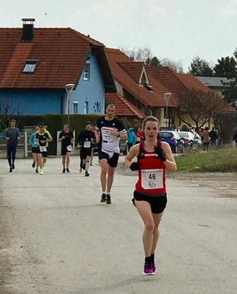 Tanja Bauer am Weg zu einer neuen Bestzeit (Foto zVg)