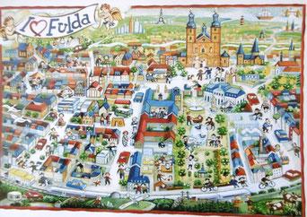 """Postkarte """"Gruß aus Fulda"""" von Henry Euler (www.henryeuler.de)"""