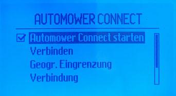 Husqvarna Automower Anzeige Display Verbinden