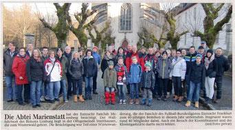 Kurzbericht mi Bild zum Tagesausflug Winterwanderung des EFC Merenberg am 17.01.2015