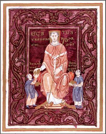 Detail Isenheimer Altar. Am Heiligen Feuer Erkrankter