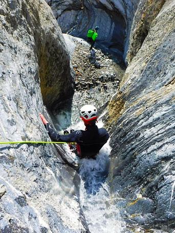 Canyoning dans les Alpes du Sud