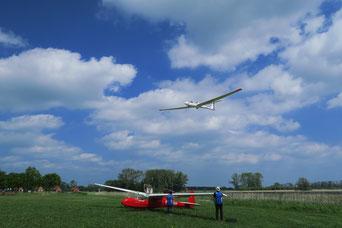 Segelflugbetrieb. Foto: (c) 2020 Sabina Jaeckel-Engler
