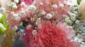 新潟からおいでくださったお二人からの花束♪