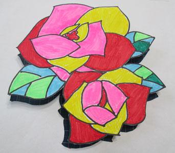 Miyukiさんが学祭用に提出した「花」の絵