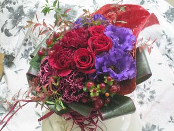 綺麗な花束、頂戴しました。