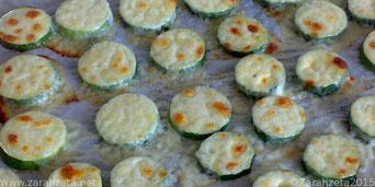 Zucchinischeiben mit Käse überbacken
