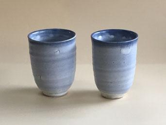 もみ灰釉呉須染フリーカップ