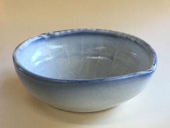 もみ灰釉呉須染鉢